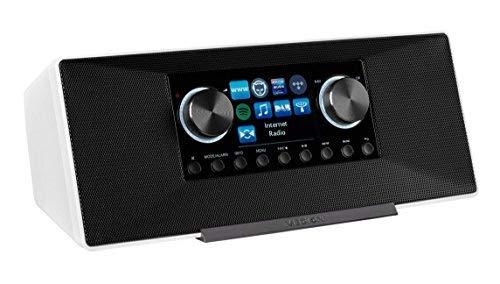 MEDION LIFE P85135 MD 87990 7,1 cm (2,8 Zoll TFT-Display) WLAN Internet-Radio, 2×6 W RMS, DLNA-/UPnP, DAB+, FM/UKW, LAN, USB 2.0, AUX, Spotify, weiß - 2
