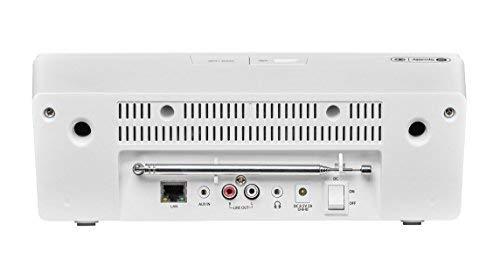 MEDION LIFE P85135 MD 87990 7,1 cm (2,8 Zoll TFT-Display) WLAN Internet-Radio, 2×6 W RMS, DLNA-/UPnP, DAB+, FM/UKW, LAN, USB 2.0, AUX, Spotify, weiß - 4