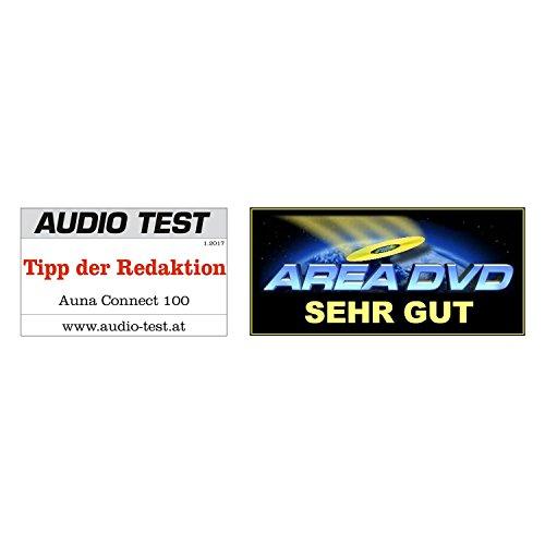 TESTURTEIL: SEHR GUT* auna Connect 100 WN • Internetradio • Digitalradio • WLAN-Radio • Bluetooth • AUX • MP3-USB • 2 Breitbandlautsprecher • Wecker • Farbdisplay • Dimmfunktion • Holzfurnier • walnuss - 2