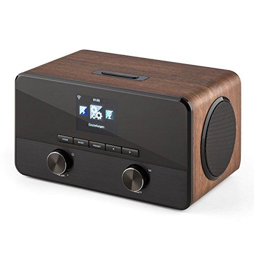 TESTURTEIL: SEHR GUT* auna Connect 100 WN • Internetradio • Digitalradio • WLAN-Radio • Bluetooth • AUX • MP3-USB • 2 Breitbandlautsprecher • Wecker • Farbdisplay • Dimmfunktion • Holzfurnier • walnuss - 5