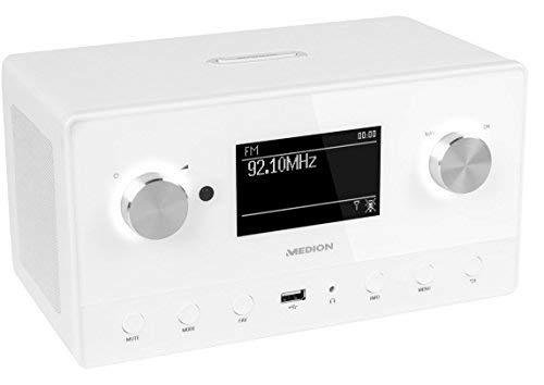 MEDION P85066 MD 87566 Wifi Stereo Internet-Radio, DAB+/UKW-Empfänger, Empfang von über 15.000 Internetradiosendern, USB-Anschluss, drahtlose Anbindung durch WLAN-Technologie, weiß - 2