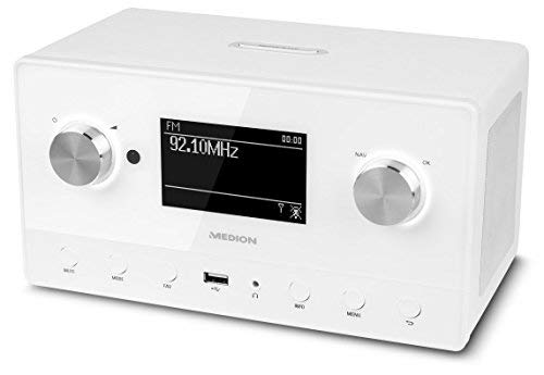 MEDION P85066 MD 87566 Wifi Stereo Internet-Radio, DAB+/UKW-Empfänger, Empfang von über 15.000 Internetradiosendern, USB-Anschluss, drahtlose Anbindung durch WLAN-Technologie, weiß - 6
