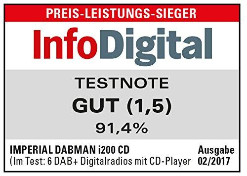 Imperial 22-236-00 Dabman i200 Internet-/DAB+ Radio mit CD-Player (Stereo Sound, UKW, WLAN,  Aux In, Line-Out, Kopfhörer Ausgang, Inklusiv Netzteil) schwarz - 3