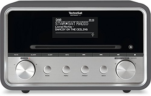 TechniSat DIGITRADIO 580 / Digital-Radio mit CD-Player, DAB+, UKW, Internetradio, Multiroom-Streaming, Spotify Connect, Bluetooth, USB, anthrazit