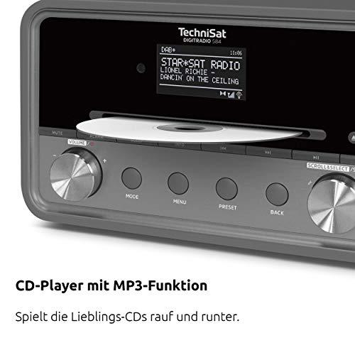 TechniSat DIGITRADIO 580 / Digital-Radio mit CD-Player, DAB+, UKW, Internetradio, Multiroom-Streaming, Spotify Connect, Bluetooth, USB, anthrazit - 4