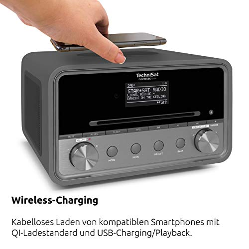 TechniSat DIGITRADIO 580 / Digital-Radio mit CD-Player, DAB+, UKW, Internetradio, Multiroom-Streaming, Spotify Connect, Bluetooth, USB, anthrazit - 8
