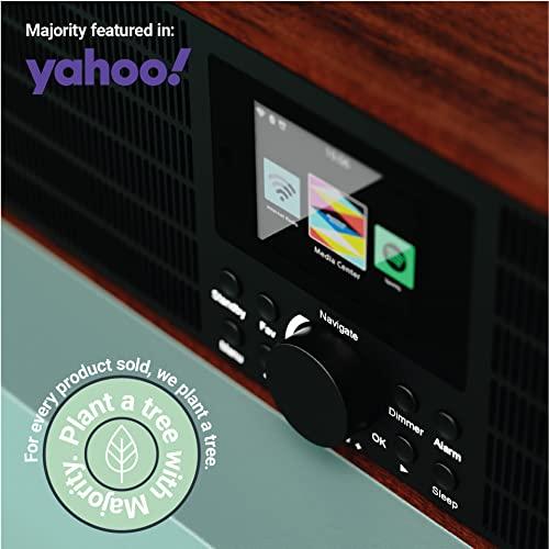 Peterhouse Graduate Internetradios WiFi-Verbindung, Spotify Connect, Bluetooth, Fernbedienung, USB Eingang/Aufladen, AUX-in, Dual Wecker und Einstellungen (Schwarz) - 6