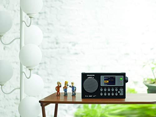 Sangean WFR-27C tragbares Internetradio (DAB+/UKW-Tuner, WLAN, UPnP/DMR Music Streaming, Netz-/Batteriebetrieb, Weckfunktion, Dual-Alarm) schwarz - 2
