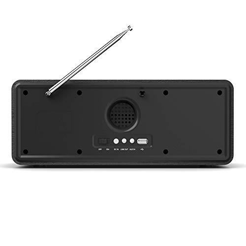 Pembroke Internetradios WiFi-Verbindung, DAB/DAB+/FM Radio, Bluetooth, Fernbedienung, USB Eingang/Aufladen, AUX-in, Dual Wecker und Einstellungen (Schwarz) - 3