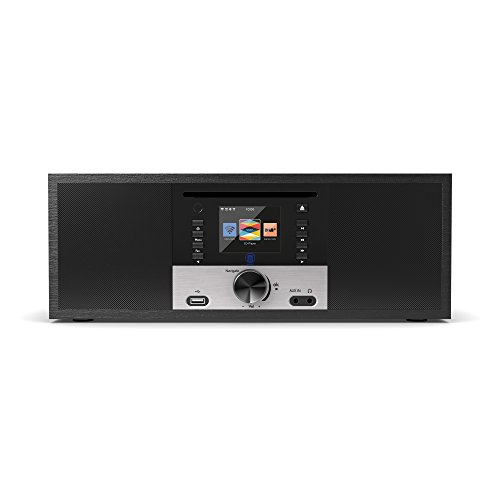 King's Internetradios WiFi-Verbindung, DAB/DAB+/FM Radio, 30W CD-Player, Bluetooth, Fernbedienung, USB Eingang/Aufladen, AUX-in, Dual Wecker und Einstellungen (Schwarz) - 2