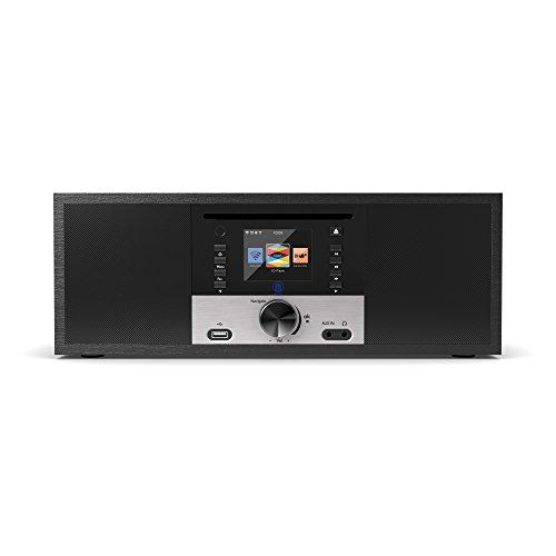 King's Internetradios WiFi-Verbindung, DAB/DAB+/FM Radio, 30W CD-Player, Bluetooth, Fernbedienung, USB Eingang/Aufladen, AUX-in, Dual Wecker und Einstellungen (Schwarz) - 2