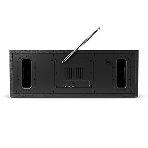 King's Internetradios WiFi-Verbindung, DAB/DAB+/FM Radio, 30W CD-Player, Bluetooth, Fernbedienung, USB Eingang/Aufladen, AUX-in, Dual Wecker und Einstellungen (Schwarz) - 3