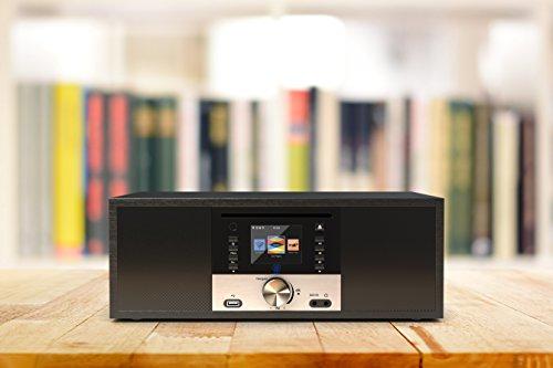 King's Internetradios WiFi-Verbindung, DAB/DAB+/FM Radio, 30W CD-Player, Bluetooth, Fernbedienung, USB Eingang/Aufladen, AUX-in, Dual Wecker und Einstellungen (Schwarz) - 4