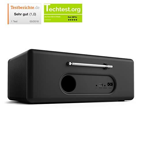 sky vision DAB 70 – Stereo DAB+ Internet-Radio (FM UKW, WLAN-fähig, mit AUX-Anschluss plus Kabel, Digital-Radio Wecker, mit Fernbedienung), schwarz - 2