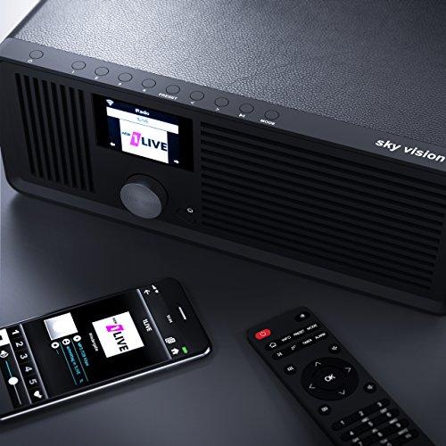 sky vision DAB 70 – Stereo DAB+ Internet-Radio (FM UKW, WLAN-fähig, mit AUX-Anschluss plus Kabel, Digital-Radio Wecker, mit Fernbedienung), schwarz - 6