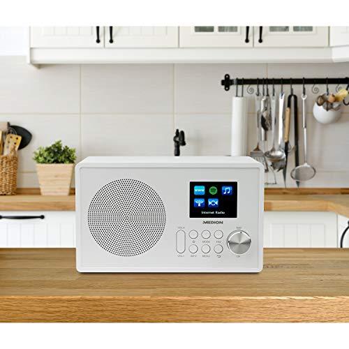 Medion MD 87528 WLAN Internet-UKW Radio (RDS, Spotify, USB, AUX in, DLNA, UPNP) weiß - 2