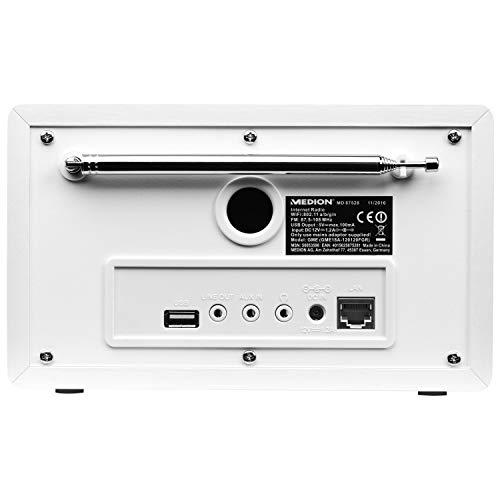 Medion MD 87528 WLAN Internet-UKW Radio (RDS, Spotify, USB, AUX in, DLNA, UPNP) weiß - 3