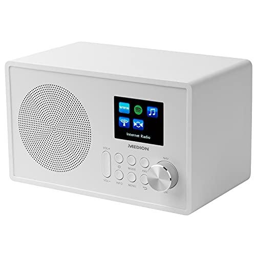 Medion MD 87528 WLAN Internet-UKW Radio (RDS, Spotify, USB, AUX in, DLNA, UPNP) weiß - 4