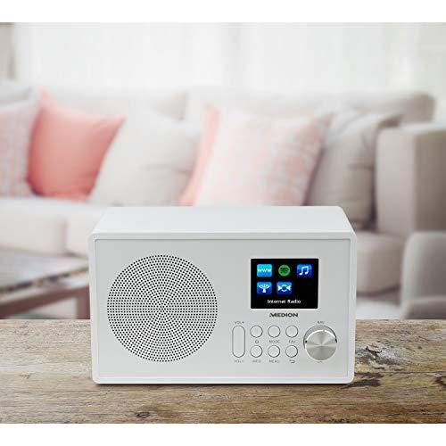 Medion MD 87528 WLAN Internet-UKW Radio (RDS, Spotify, USB, AUX in, DLNA, UPNP) weiß - 6
