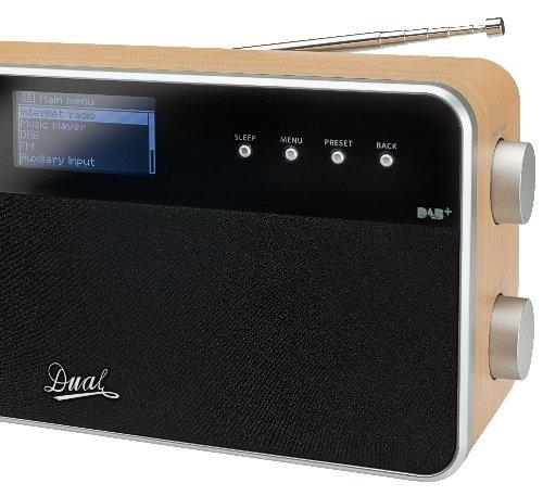 Dual RadioStation IR 6S Digitalradio (UKW, DAB+, Internetradio-Tuner, Wireless-LAN, LCD-Display, AUX-In) braun - 2