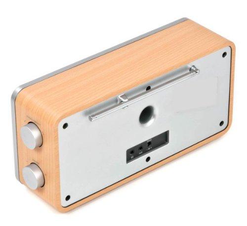 Dual RadioStation IR 6S Digitalradio (UKW, DAB+, Internetradio-Tuner, Wireless-LAN, LCD-Display, AUX-In) braun - 4