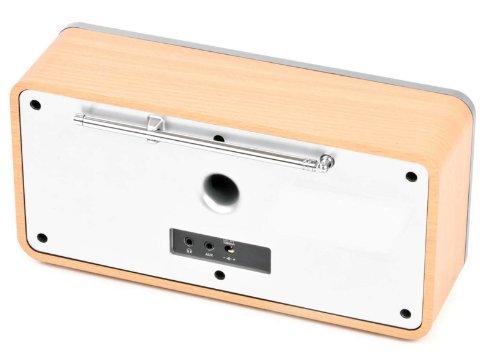 Dual RadioStation IR 6S Digitalradio (UKW, DAB+, Internetradio-Tuner, Wireless-LAN, LCD-Display, AUX-In) braun - 7