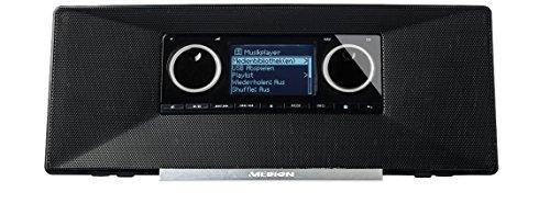 MEDION LIFE P85035 (MD 87090) WLAN Internet Radio mit DAB+ (UKW, DAB+, WLAN, DLNA, UPnP, 2 x 5 Watt, Weckfunktion) schwarz