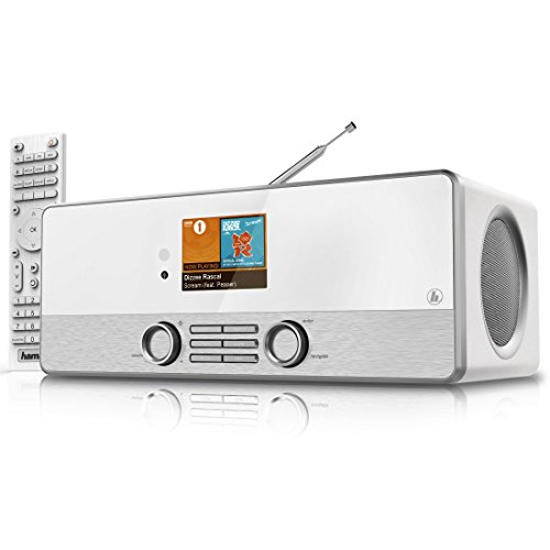 Hama Internetradio Digitalradio DIR3110M (WLAN/LAN/DAB+/FM, Fernbedienung, USB-Anschluss mit Lade- und Wiedergabefunktion, 2,8 Zoll-Farbdisplay, Wi-Fi Streamingfunktion, Multiroom, gratis Radio App) weiß