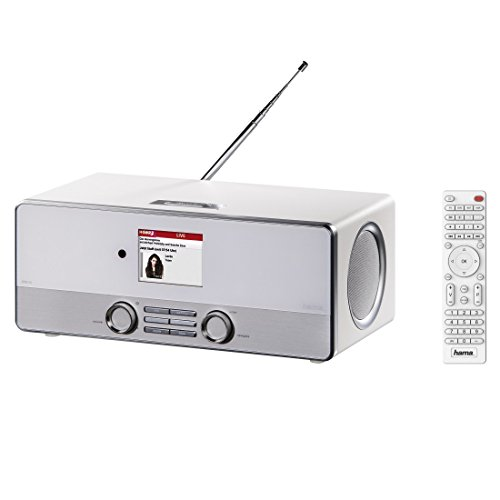Hama Internetradio Digitalradio DIR3110M (WLAN/LAN/DAB+/FM, Fernbedienung, USB-Anschluss mit Lade- und Wiedergabefunktion, 2,8 Zoll-Farbdisplay, Wi-Fi Streamingfunktion, Multiroom, gratis Radio App) weiß - 15
