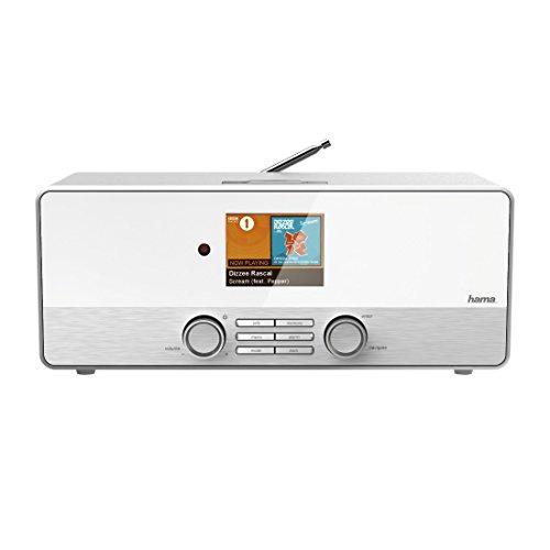 Hama Internetradio Digitalradio DIR3110M (WLAN/LAN/DAB+/FM, Fernbedienung, USB-Anschluss mit Lade- und Wiedergabefunktion, 2,8 Zoll-Farbdisplay, Wi-Fi Streamingfunktion, Multiroom, gratis Radio App) weiß - 20