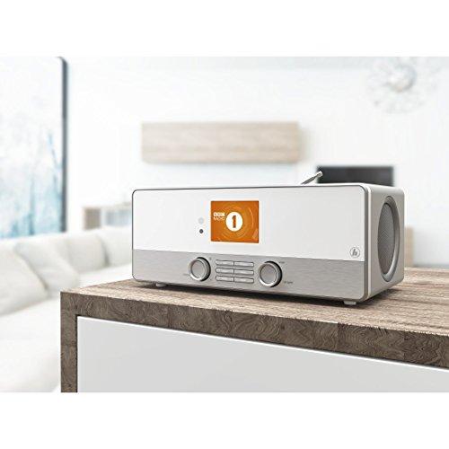 Hama Internetradio Digitalradio DIR3110M (WLAN/LAN/DAB+/FM, Fernbedienung, USB-Anschluss mit Lade- und Wiedergabefunktion, 2,8 Zoll-Farbdisplay, Wi-Fi Streamingfunktion, Multiroom, gratis Radio App) weiß - 6
