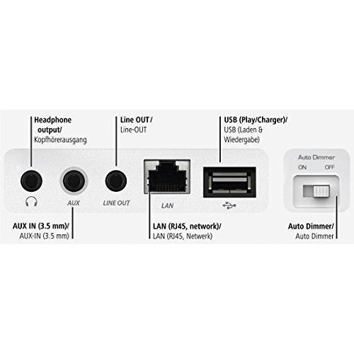 Hama Internetradio Digitalradio DIR3110M (WLAN/LAN/DAB+/FM, Fernbedienung, USB-Anschluss mit Lade- und Wiedergabefunktion, 2,8 Zoll-Farbdisplay, Wi-Fi Streamingfunktion, Multiroom, gratis Radio App) weiß - 5