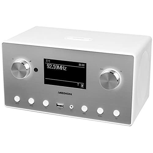 Medion MD 87523 WLAN Internet-Radio (DAB+, UKW, Bluetooth, USB, Spotify, AirPlay, Multiroom, AUX) weiß - 2