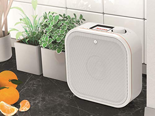 Hama Internetradio IR350, unterbaufähig (WLAN Küchenradio, 2,4 Zoll Farbdisplay, Fernbedienung via gratis Radio-App, Weck- und WiFi-Streamingfunktion, Multiroom) weiß/kupfer - 7