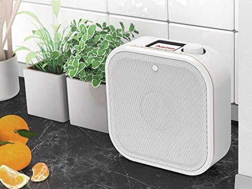 Hama Internetradio IR350, unterbaufähig (WLAN Küchenradio, 2,4 Zoll Farbdisplay, Fernbedienung via gratis Radio-App, Weck- und WiFi-Streamingfunktion, Multiroom) weiß/kupfer - 7