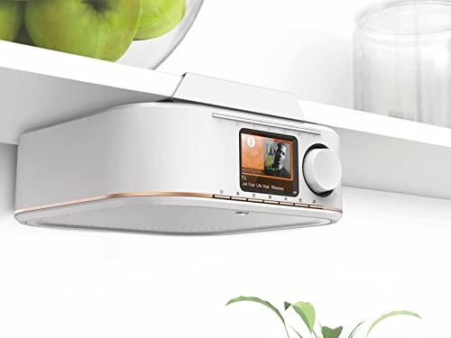 Hama Internetradio IR350, unterbaufähig (WLAN Küchenradio, 2,4 Zoll Farbdisplay, Fernbedienung via gratis Radio-App, Weck- und WiFi-Streamingfunktion, Multiroom) weiß/kupfer - 9