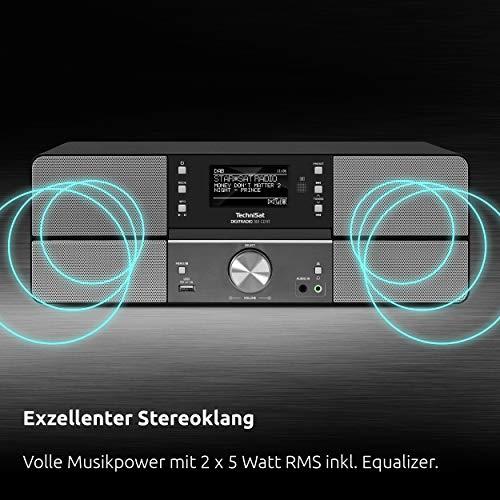 TechniSat DIGITRADIO 361 CD IR Digital-Radio mit CD-Player, Internetradio, DAB+, UKW, CD-Player, USB, Bluetooth, LAN, WLAN, UPnP Audio-Streaming, Wecker, 2 Weckzeiten, Sleeptimer, 2x 5 Watt, anthrazit - 4