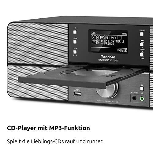 TechniSat DIGITRADIO 361 CD IR Digital-Radio mit CD-Player, Internetradio, DAB+, UKW, CD-Player, USB, Bluetooth, LAN, WLAN, UPnP Audio-Streaming, Wecker, 2 Weckzeiten, Sleeptimer, 2x 5 Watt, anthrazit - 5
