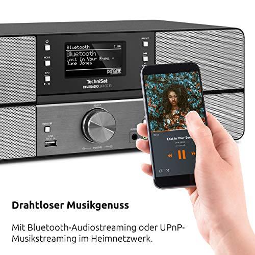 TechniSat DIGITRADIO 361 CD IR Digital-Radio mit CD-Player, Internetradio, DAB+, UKW, CD-Player, USB, Bluetooth, LAN, WLAN, UPnP Audio-Streaming, Wecker, 2 Weckzeiten, Sleeptimer, 2x 5 Watt, anthrazit - 6