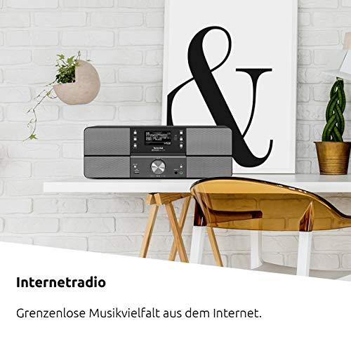 TechniSat DIGITRADIO 361 CD IR Digital-Radio mit CD-Player, Internetradio, DAB+, UKW, CD-Player, USB, Bluetooth, LAN, WLAN, UPnP Audio-Streaming, Wecker, 2 Weckzeiten, Sleeptimer, 2x 5 Watt, anthrazit - 7
