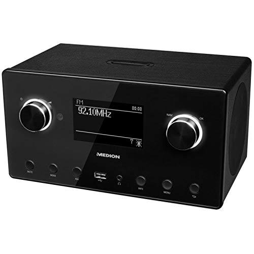 Medion MD 87523 WLAN Internet-Radio (DAB+, UKW, Bluetooth, USB, Spotify, AirPlay, Multiroom, AUX) schwarz - 3