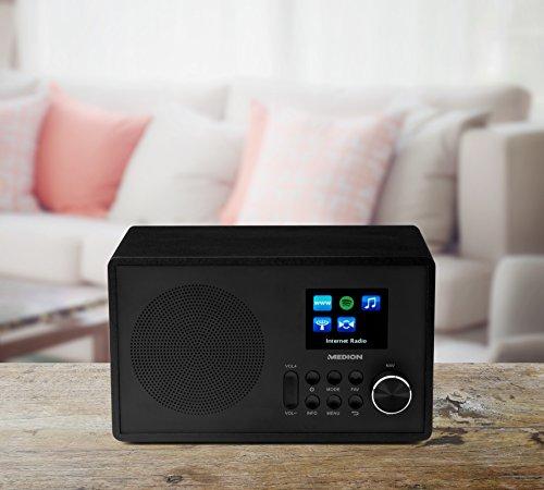 Medion MD 87528 WLAN Internet-UKW Radio (RDS, Spotify, USB, AUX in, DLNA, UPNP) schwarz - 3