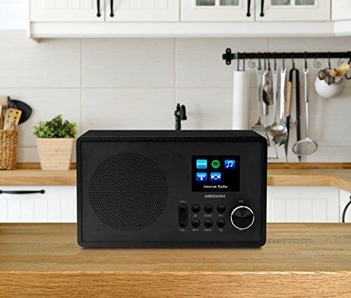Medion MD 87528 WLAN Internet-UKW Radio (RDS, Spotify, USB, AUX in, DLNA, UPNP) schwarz - 4