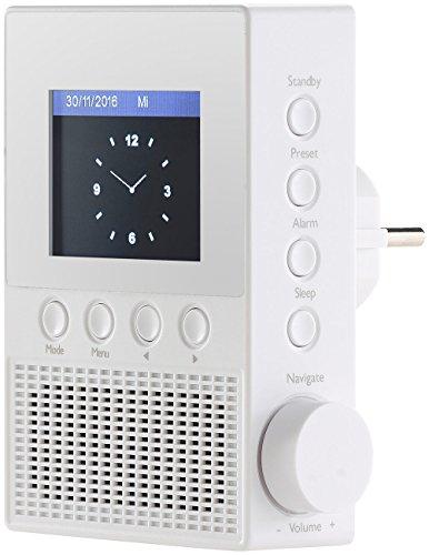 VR-Radio Steckdosenradio: Steckdosen-Internetradio IRS-300 mit WLAN, 6,1-cm-Display, 6 Watt (Steckdosenradio WLAN) - 3
