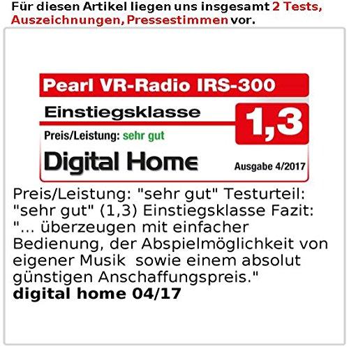 VR-Radio Steckdosenradio: Steckdosen-Internetradio IRS-300 mit WLAN, 6,1-cm-Display, 6 Watt (Steckdosenradio WLAN) - 6