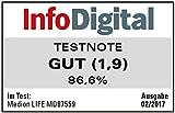 Medion E85059 MD 87559 WLAN-Internetradio (6 cm (2,4 zoll) TFT Farb-Display, 40 Speicherplätze, Holzgehäuse, USB, AUX) gold/weiß - 3