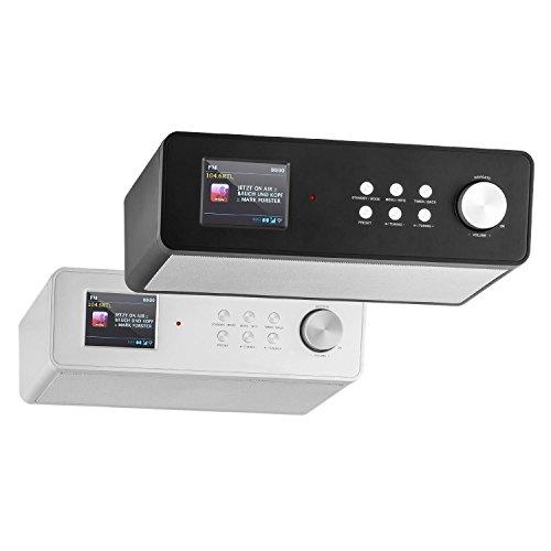 auna KR-200 • Küchenradio • Unterbauradio • DAB / DAB+ Tuner • UKW-Empfänger • Spotify Connect • 10 Senderspeicherplätze • automatischer und manueller Sendersuchlauf • WiFi • AUX • Equalizer • Dual-Alarm • Schlummerfunktion • Fernbedienung • schwarz - 2