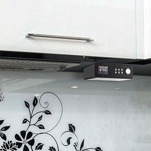 auna KR-200 • Küchenradio • Unterbauradio • DAB / DAB+ Tuner • UKW-Empfänger • Spotify Connect • 10 Senderspeicherplätze • automatischer und manueller Sendersuchlauf • WiFi • AUX • Equalizer • Dual-Alarm • Schlummerfunktion • Fernbedienung • schwarz - 3