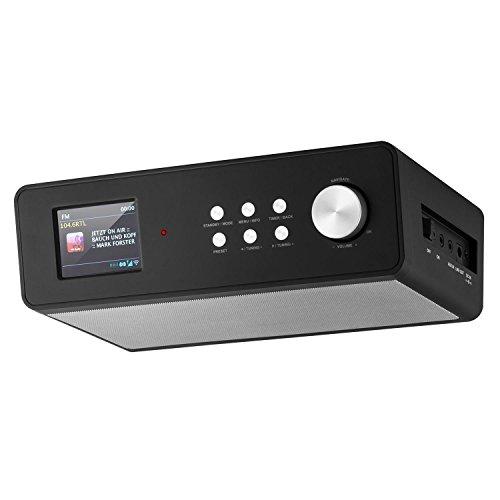 auna KR-200 • Küchenradio • Unterbauradio • DAB / DAB+ Tuner • UKW-Empfänger • Spotify Connect • 10 Senderspeicherplätze • automatischer und manueller Sendersuchlauf • WiFi • AUX • Equalizer • Dual-Alarm • Schlummerfunktion • Fernbedienung • schwarz - 4