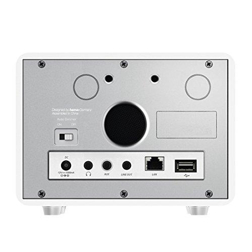 Hama Internetradio IR111MS (WLAN/LAN, Fernbedienung, USB-Anschluss mit Lade- und Wiedergabefunktion, Weck- und Wifi-Streamingfunktion, Multiroom, gratis Radio App) weiß - 15